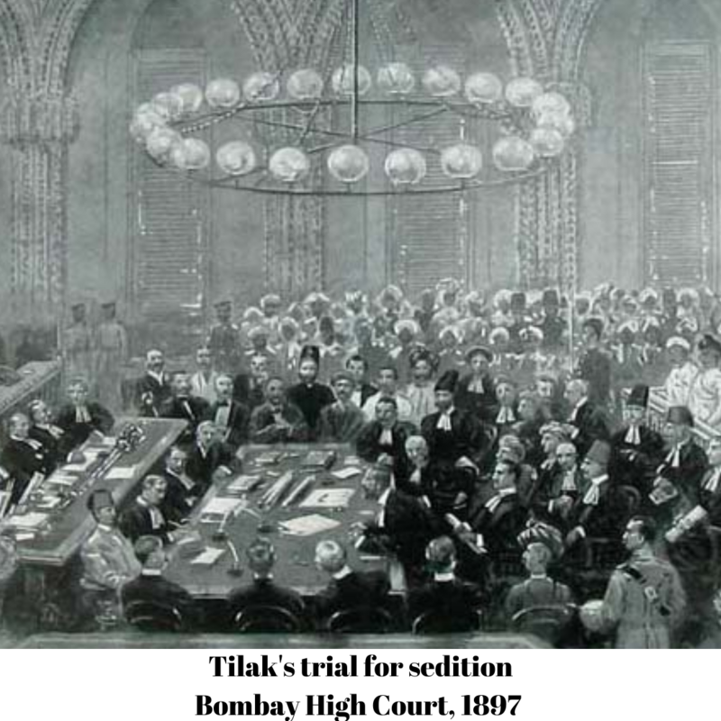Tilak's trial for sedition, in the Bombay High Court, 1897